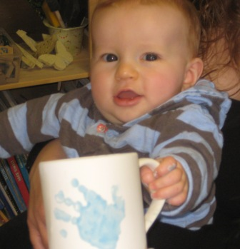 baby boy pottery painting