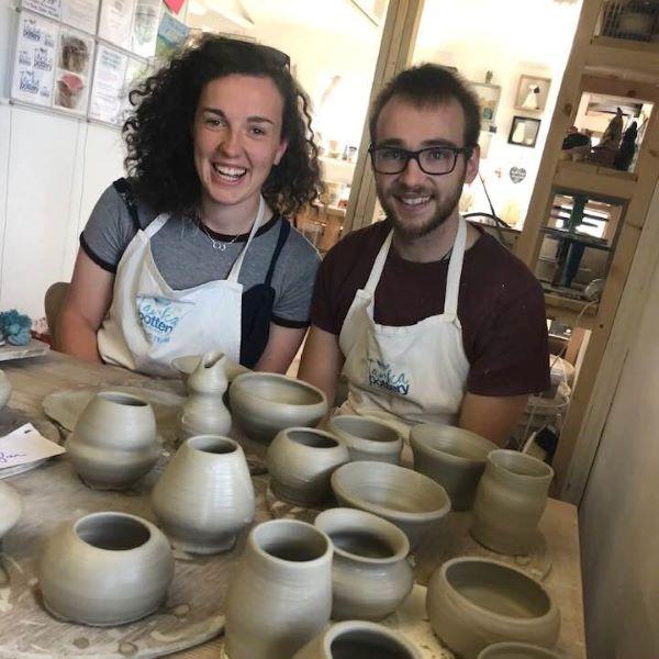 Throw and glaze pottery